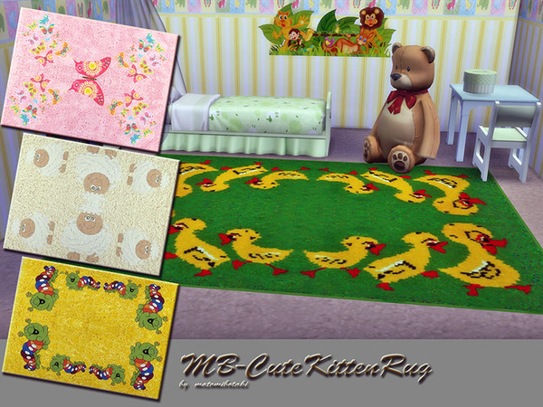 The Sims Resource: MB CuteKittenRug by matomibotaki