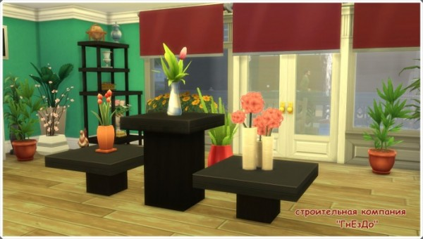 Sims 3 by Mulena: Flower shop Daisy