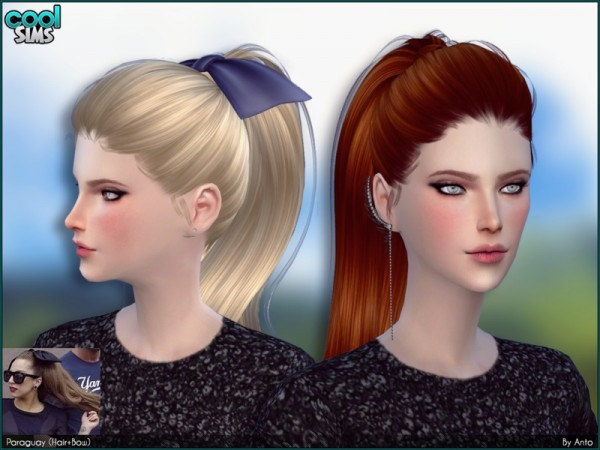 The Sims Resource: Anto   Paraguay (Hair + Bows)