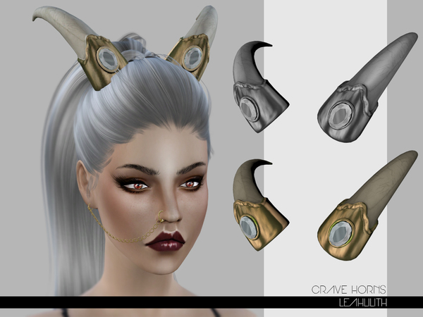 The Sims Resource Leahlilith Crave Horns on Reindeer Headband