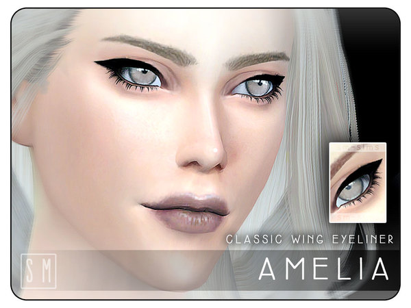 The Sims Resource: Amelia   Classic Eyeliner by Screaming Mustard