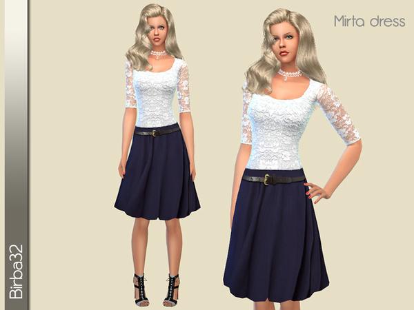 The Sims Resource: Mirta dress by Birba32