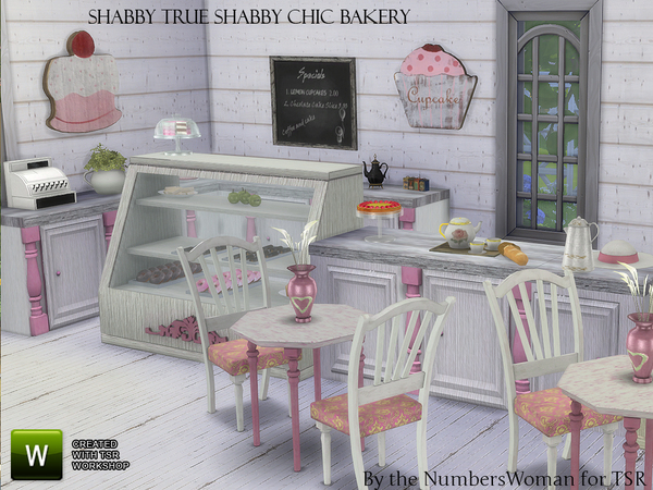 the sims resource shabby chic true shabby bakery by thenumberswoman sims 4 downloads. Black Bedroom Furniture Sets. Home Design Ideas