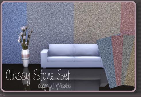 Xmisakix sims: lassy Stone  Wall Set