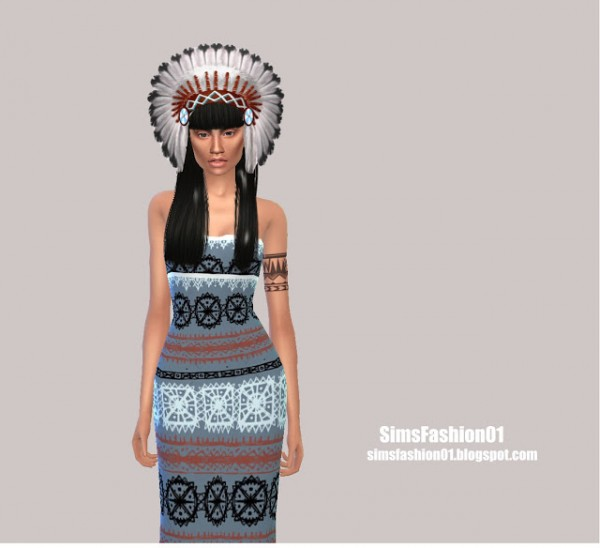 Sims Fashion 01: Indian Dress