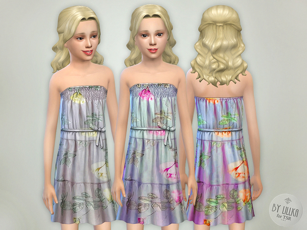 The Sims Resource: Flowing Voile Dress by lillka