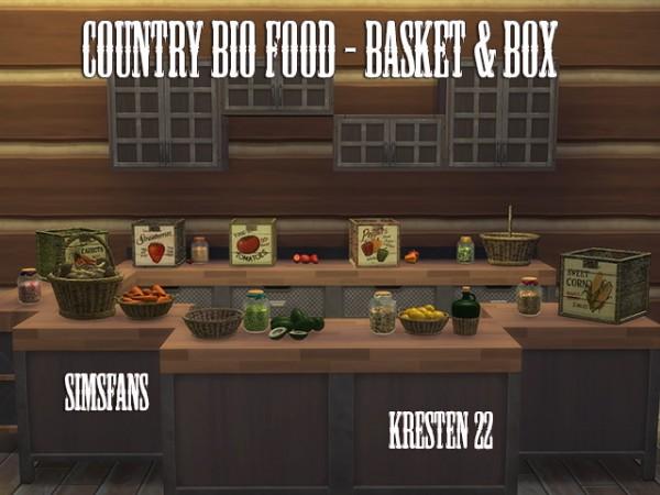 Sims Fans: Country bio food   Basket & Box by Kresten 22