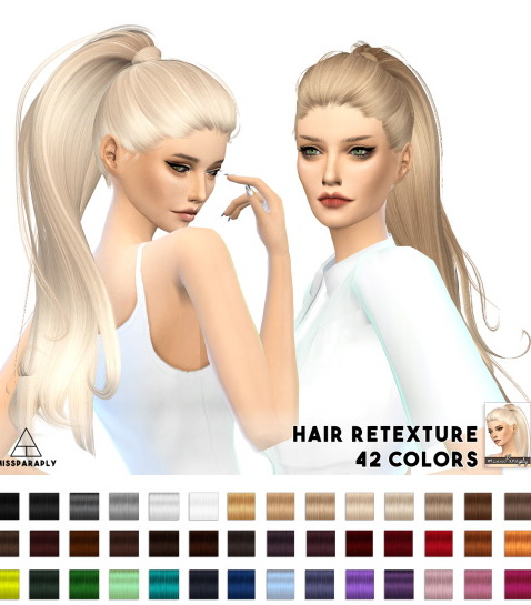 Miss Paraply: Hair retexture   Alesso (CoolSims) Paraguay