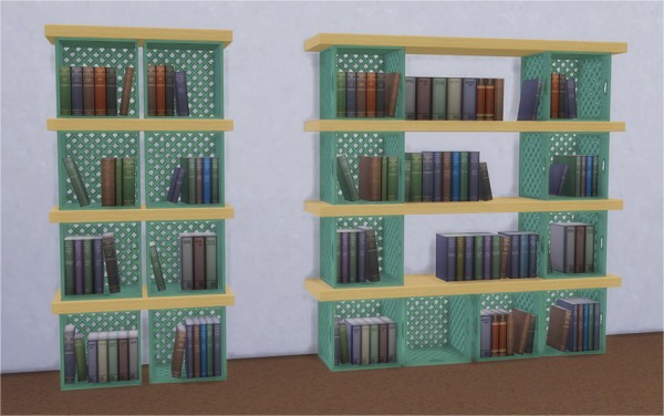 Veranka Crates Bookcases Sims 4 Downloads