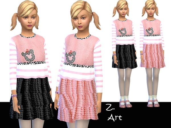 The Sims Resource: Kitty Cat dress by Zuckerschnute20