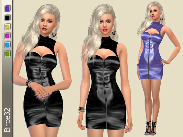The Sims Resource: Metal dress by Birba32