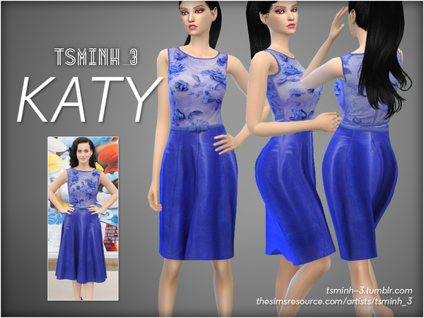 The Sims Resource: 1   KATY by tsminh 3