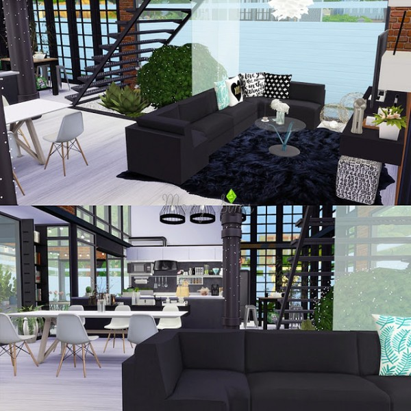 Sims 4 Cc S The Best Windows And Door Decor By Maximss: Mony Sims: Urban House • Sims 4 Downloads