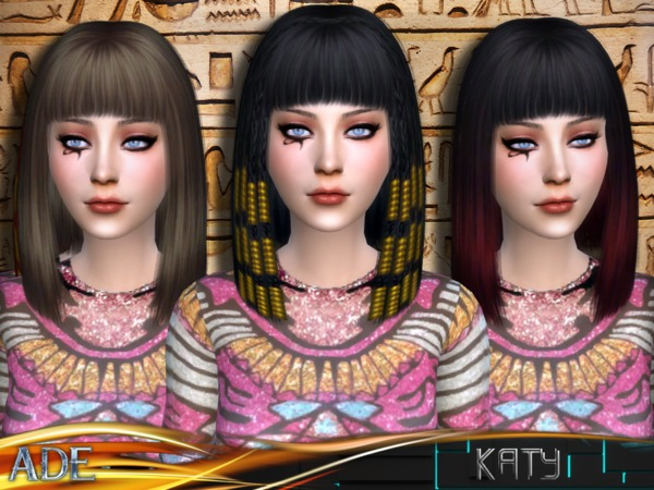 The Sims Resource: Ade Katy hairstyle