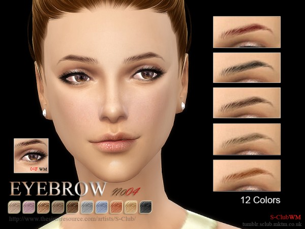 The Sims Resource: Eyebrows 04F by S Club