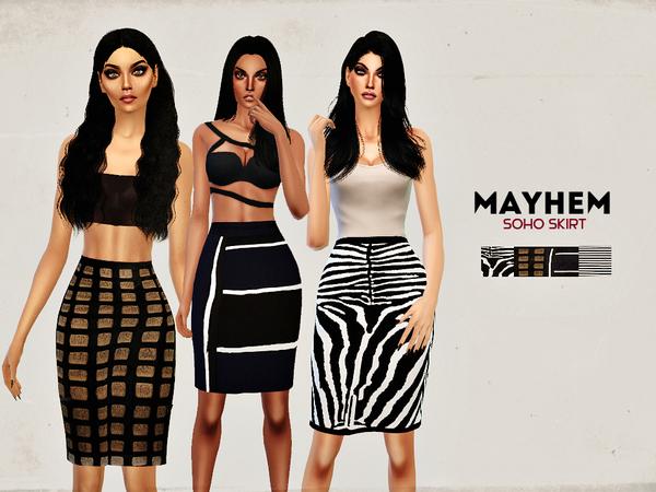 The Sims Resource: Soho Skirt by NataliMayhem