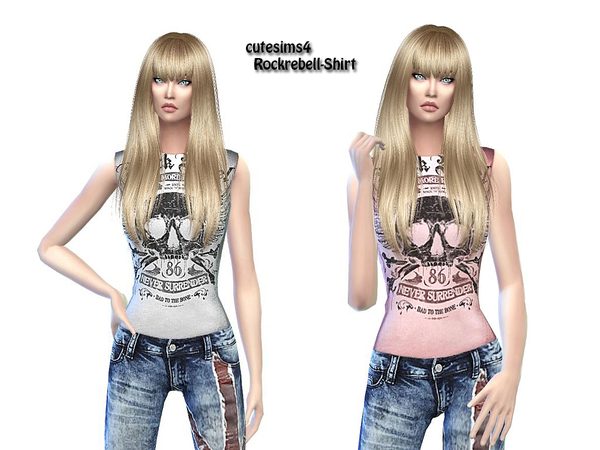 The Sims Resource: Rockrebell Outfit by SweetSims4
