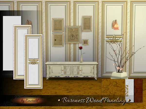The Sims Resource Baroness Wood Paneling By Emerald