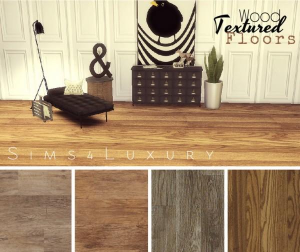 Sims4Luxury: Wood textured floors set 1
