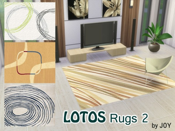 The Sims Resource: LOTOS Rugs by Joy