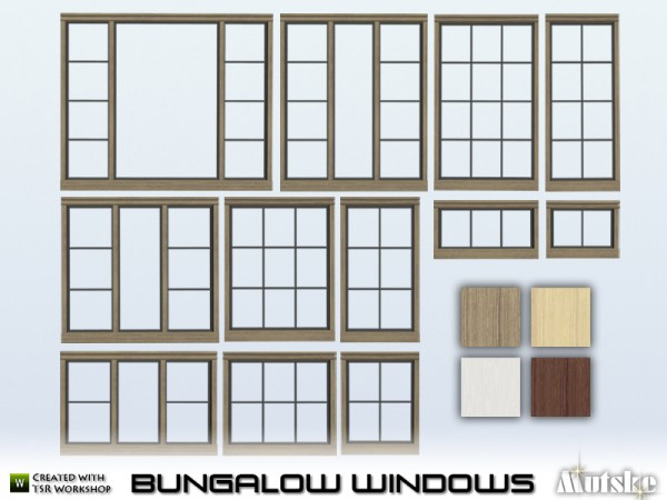 The Sims Resource Bungalow Windows By Mutske Sims 4