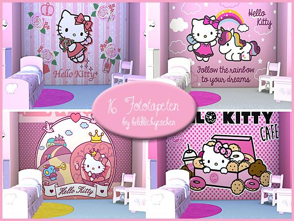 Akisima Sims Blog Hello Kitty Wall Stencils Sims 4