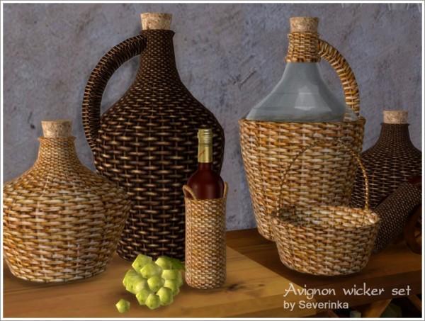 Sims by Severinka: Avignon wicker set