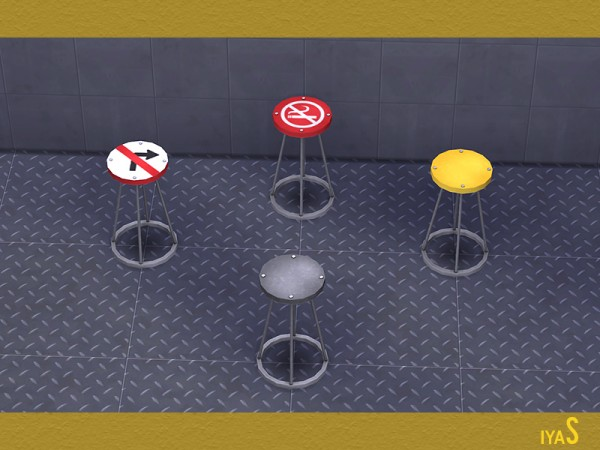 The Sims Resource: Traffic Signs Decor Set by Soloriya