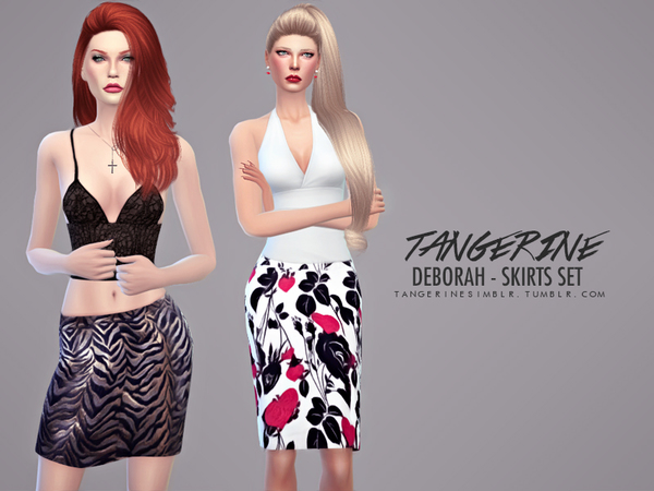 The Sims Resource: Deborah   Skirts Set