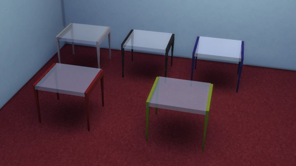 Mod The Sims Modular L Tables Round Table For 3 Sims And