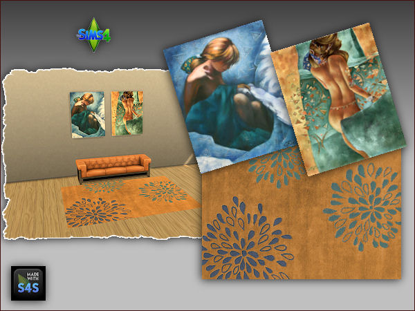 Arte Della Vita: 4 sets including a rug and two paintings