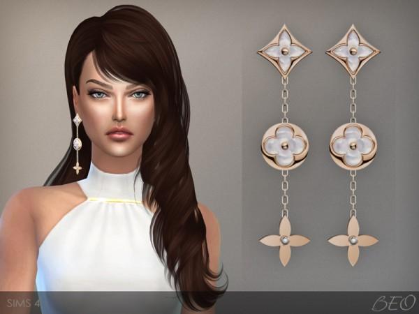 BEO Creations: LV Monogram perle earrings