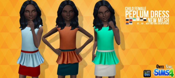 Onyx Sims: Peplum Dress Mesh