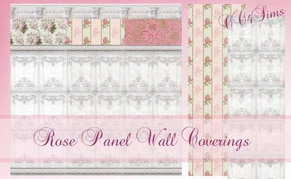 CC4Sims: Rose panel wall covering
