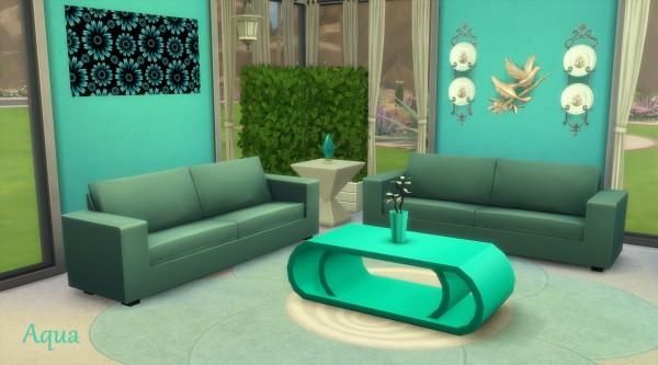 Mod The Sims: The Ascension Coffee Table in 14 Fluro Colours by wendy35pearly