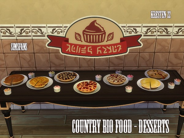 Sims Fans: Country bio food   Desserts by Kresten 22