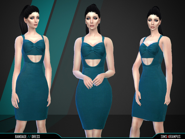 The Sims Resource: Bandage Dress by SIms4Krampus