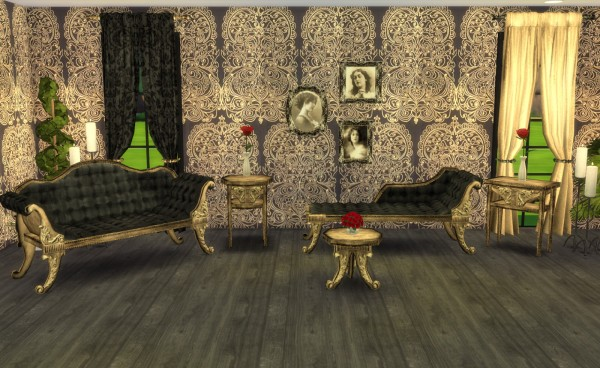 My little The Sims 3 World: ADELE  Victorian Gothic Set Recolors