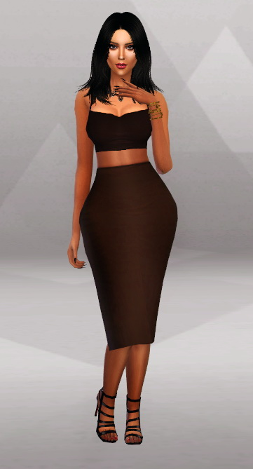 simpliciaty kk tight dress midi skirt sims 4
