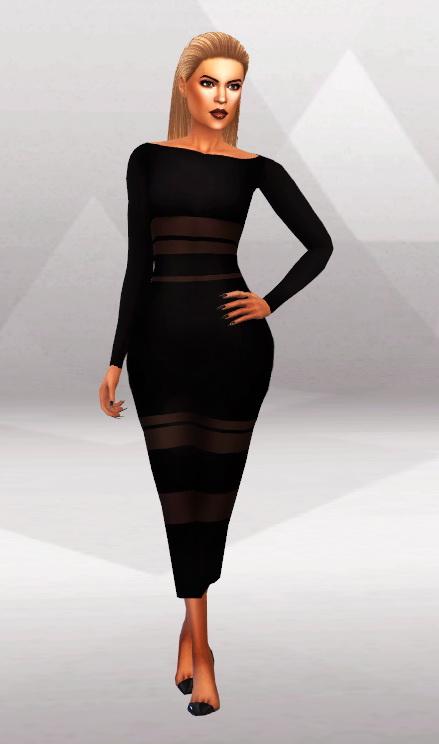 Simpliciaty: KK Tight Long Dress & MIDI Skirt • Sims 4 Downloads