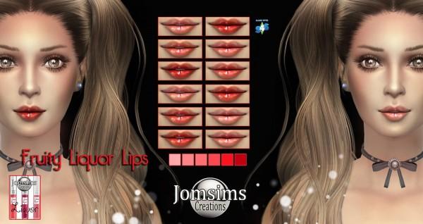 Jom Sims Creations: Fruity liquor lips