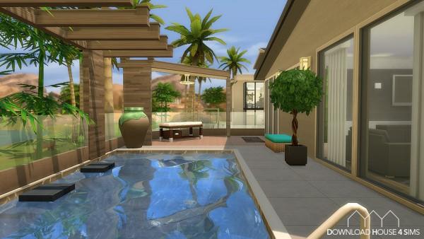 Dh4s 91st avila street barcelona no cc sims 4 downloads for Sims 4 modelli di casa moderna