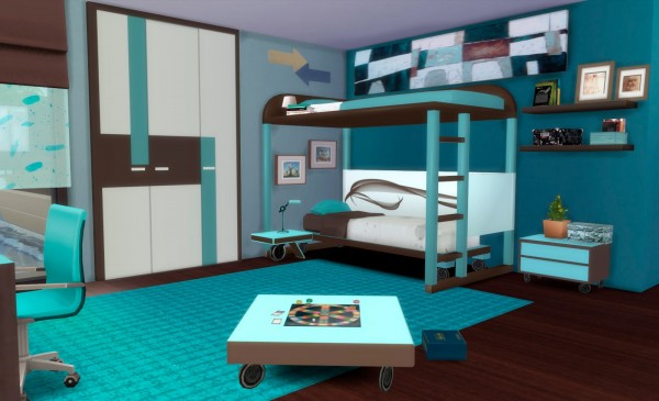 Pqsims4 ivan bedroom sims 4 downloads for Muebles sims 3