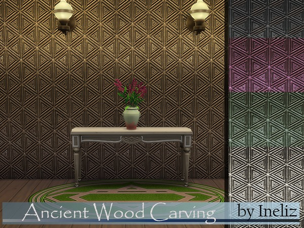 The Sims Resource: Ancient Wood Carving by Ineliz