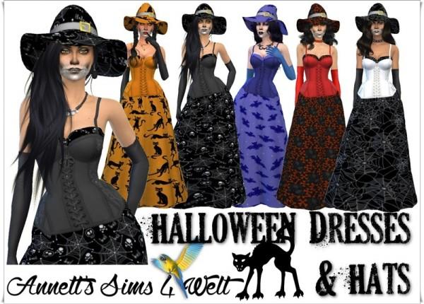 Annett`s Sims 4 Welt: Halloween Dresses & Hats   Part1