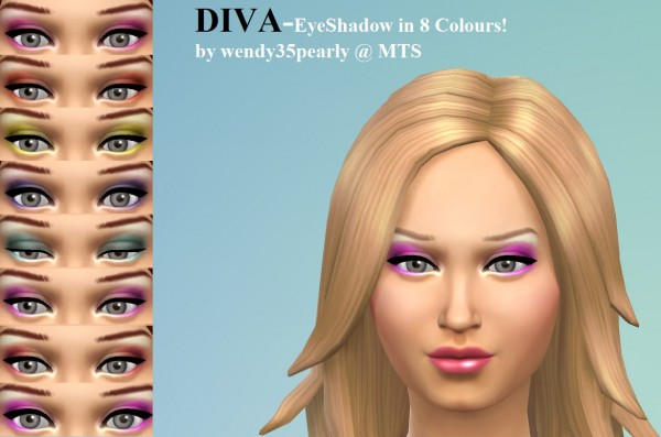 Mod The Sims: DIVA Eyeshadow by wendy35pearly