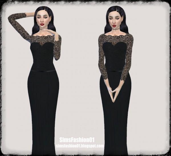 Sims Fashion 01: SimsFashion01   Lace wedding dress