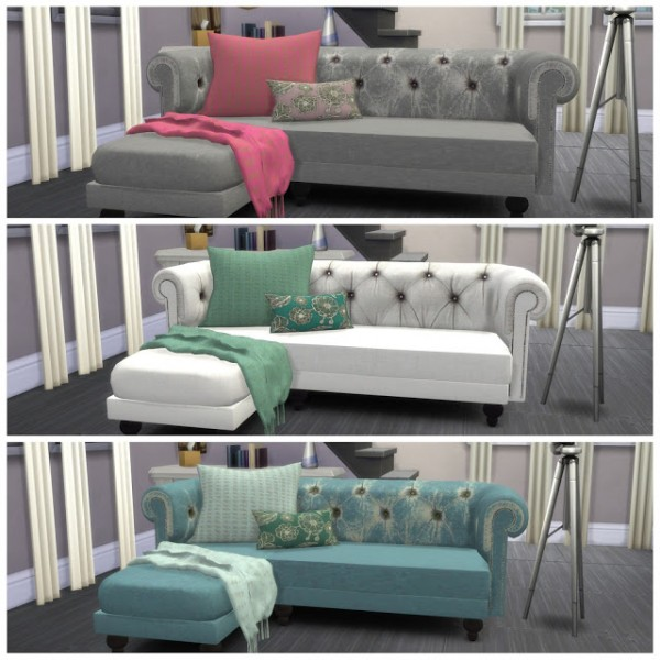 Dinha gamer sofa recolor sims 4 downloads for Sofa bed sims 4