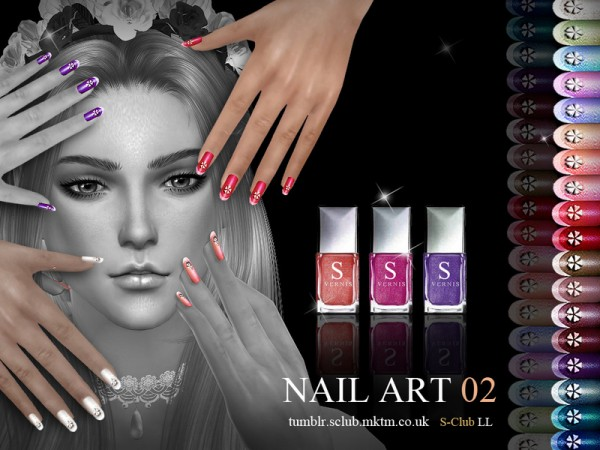 The Sims Resource: Nail Art N02 by S Club