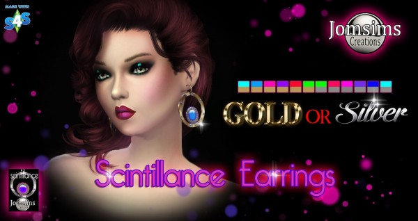 Jom Sims Creations: Scintillance earrings